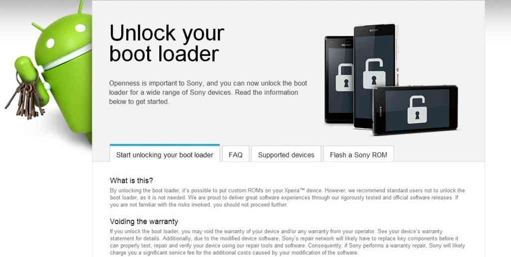 Bootloader - Sony