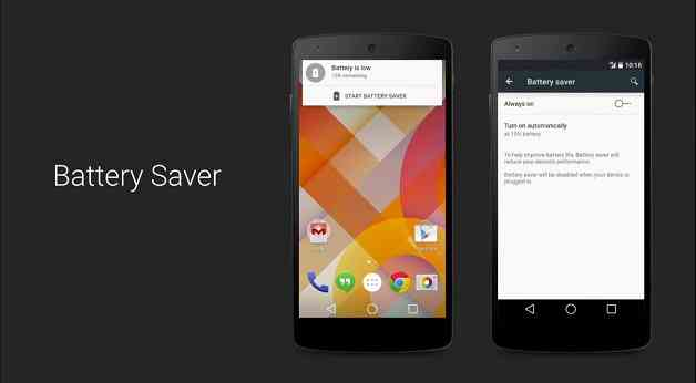 Android 5.0: Battery Saver