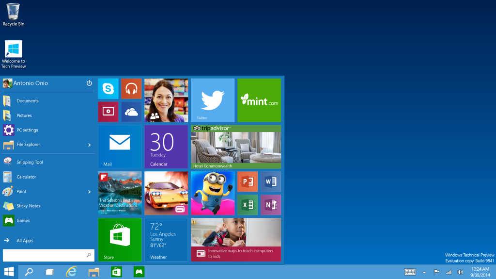 Представлена Windows 10
