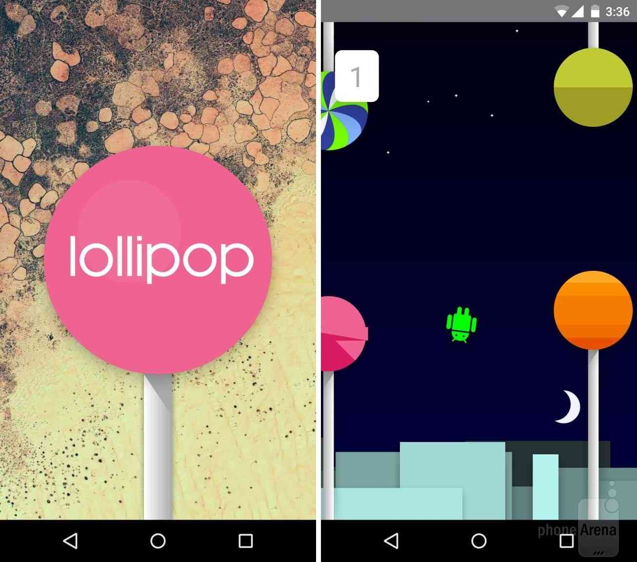 Пасхалка в Android Lollipop